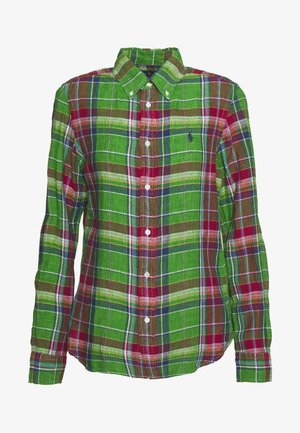 GEORGIA CLASSIC LONG SLEEVE - Camisa - green/orange