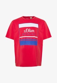 s.Oliver - KURZARM - Print T-shirt - red - 4