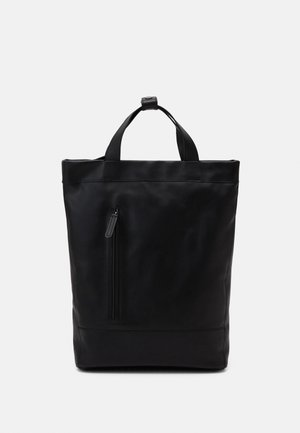 LEATHER UNISEX - Tagesrucksack - black