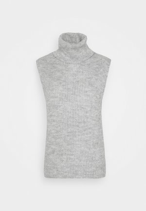 ONLPIL ROLLNECK VEST  - Jumper - light grey melange