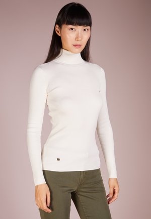 TURTLE NECK - Strickpullover - mascarpone cream