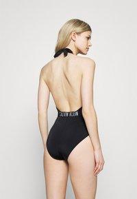 Calvin Klein Swimwear - INTENSE POWER PLUNGE ONE PIECE - Swimsuit - black - 2