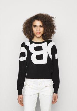 Mikina - black/white