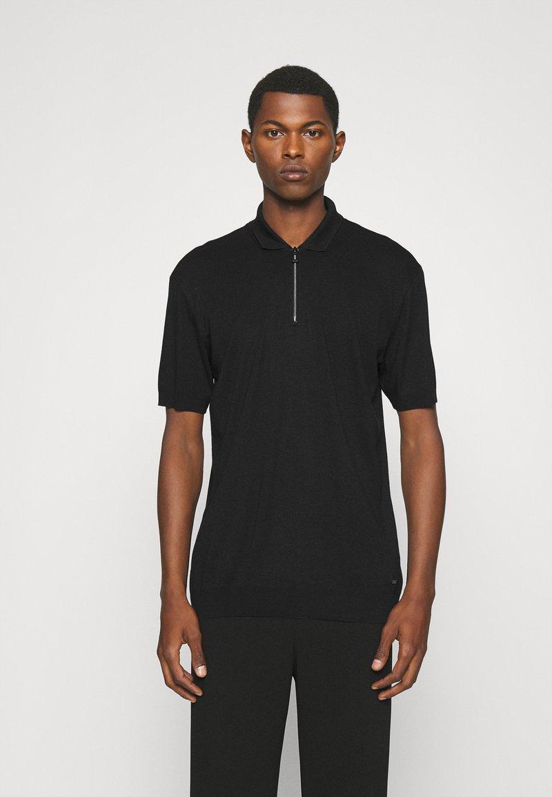 HUGO - DONHAM - Polo shirt - black
