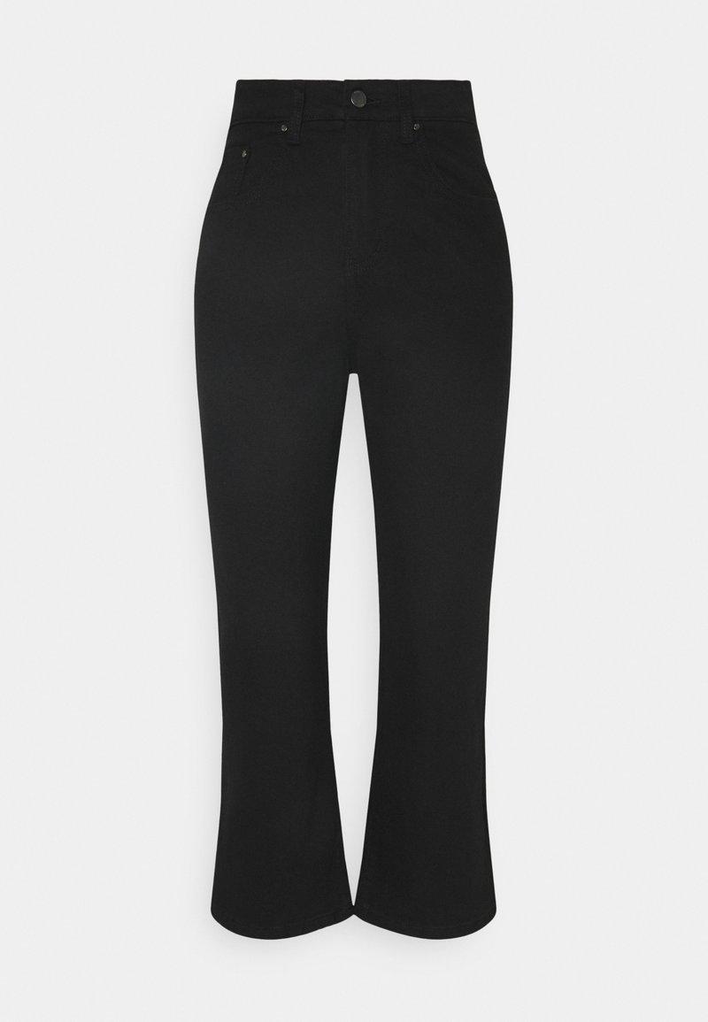 Lost Ink Petite - LONGERLINE KICK RAVEN - Relaxed fit jeans - black