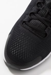 Under Armour - PURSUIT - Neutral running shoes - black/white/metallic silver - 5