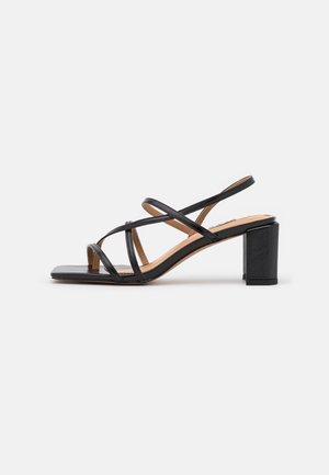 T-bar sandals - jet black