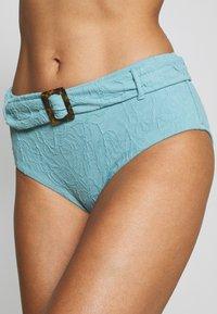 Seafolly - PALMCOASTWIDE SIDE RETRO - Bikini bottoms - nileblue - 4