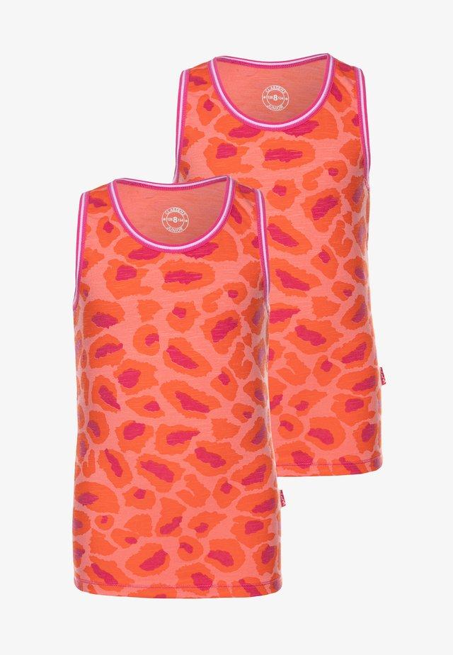 GIRLS 2 PACK SINGLET - Undershirt - pink
