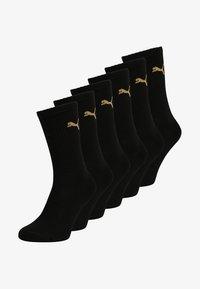 Puma - SPORT 6 PACK UNISEX - Sports socks - black/gold - 0