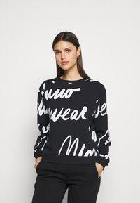 Moschino Underwear - Pyjama top - black/white - 0
