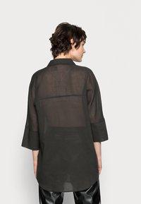 Opus - FRITZI - Button-down blouse - black oliv - 2