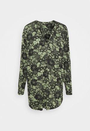 KHAKI FLORAL SHIRT - Long sleeved top - khaki