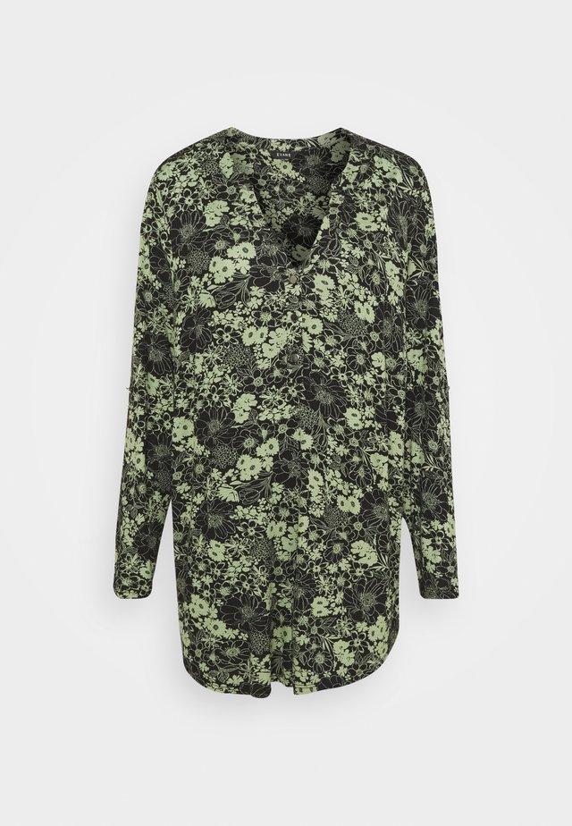 KHAKI FLORAL SHIRT - Långärmad tröja - khaki