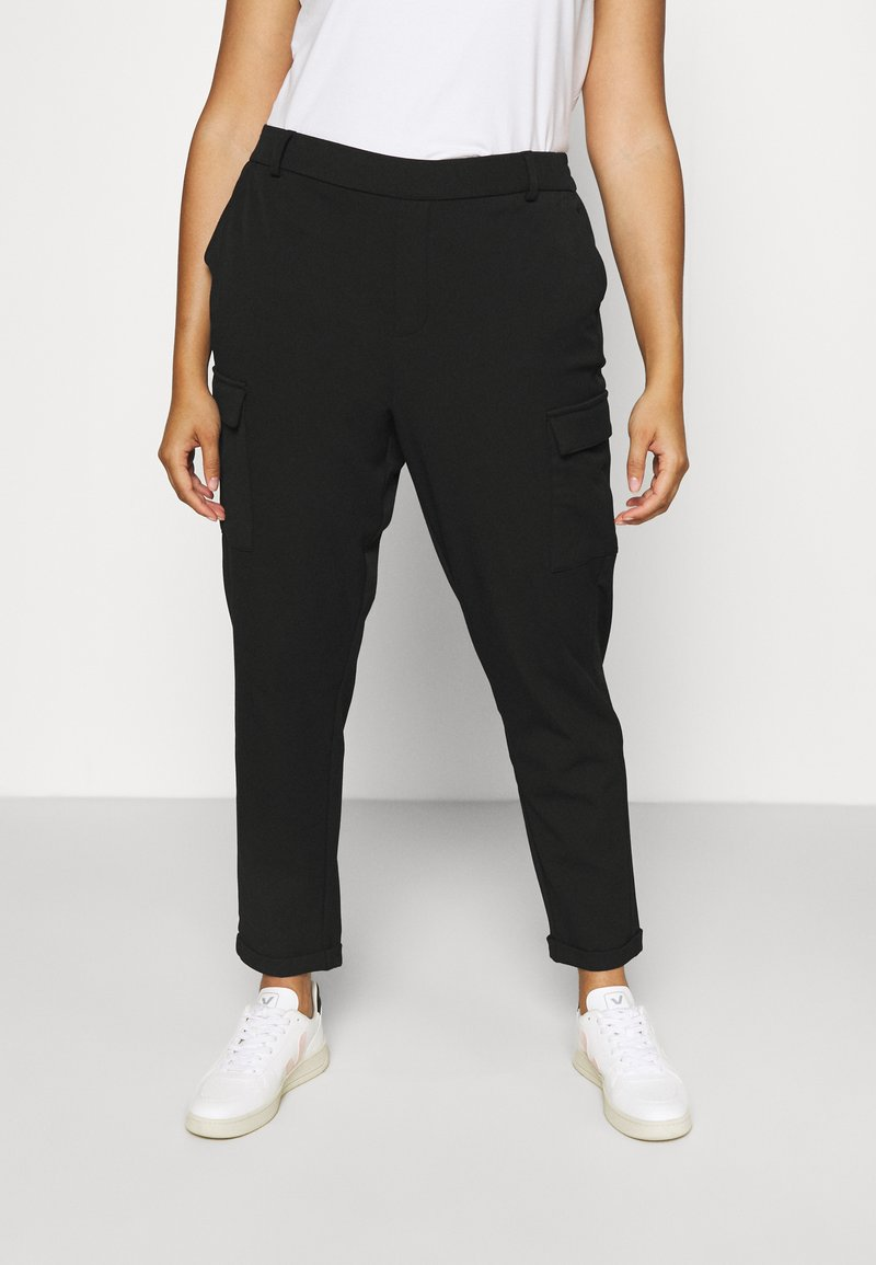 Vero Moda Curve - VMKAYA PANT - Trousers - black