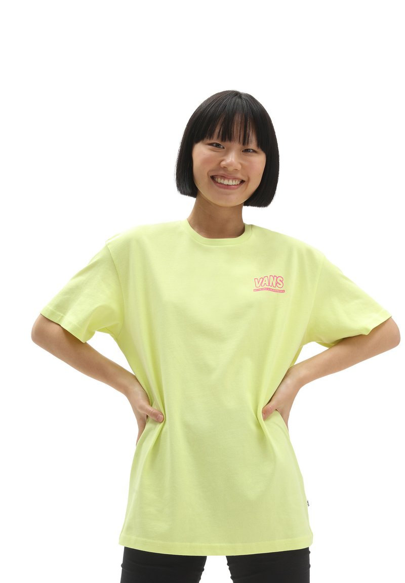 Vans - WM LOST IN OS S/S - Print T-shirt - sunny lime