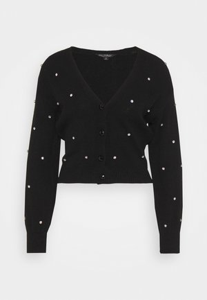 EMBELLISHED CARDIGAN - Cardigan - black