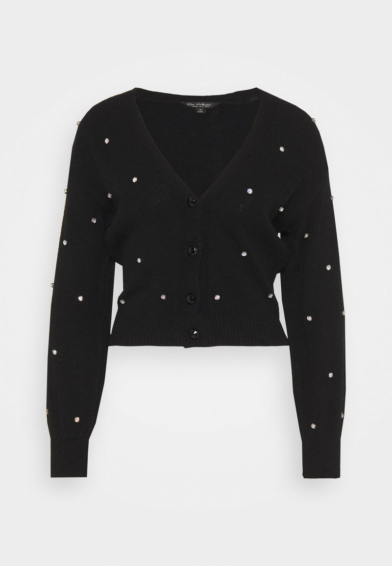 Miss Selfridge - EMBELLISHED CARDIGAN - Cardigan - black