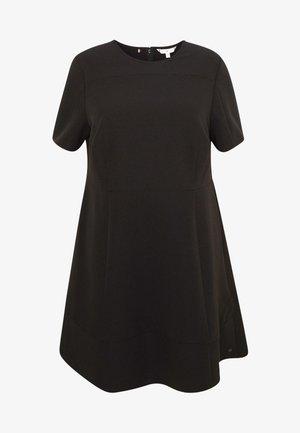 ANGELA PANEL DRESS CURVE - Day dress - black