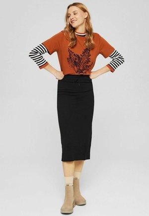 CORE SKIRT - Pencil skirt - black