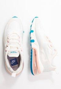 Nike Sportswear - AIR MAX 270 REACT - Trainers - summit white/ghost aqua/phantom/coral stardust/imperial blue/light bone - 5