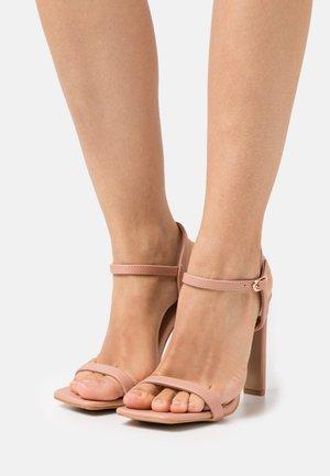 Sandals - dark blush