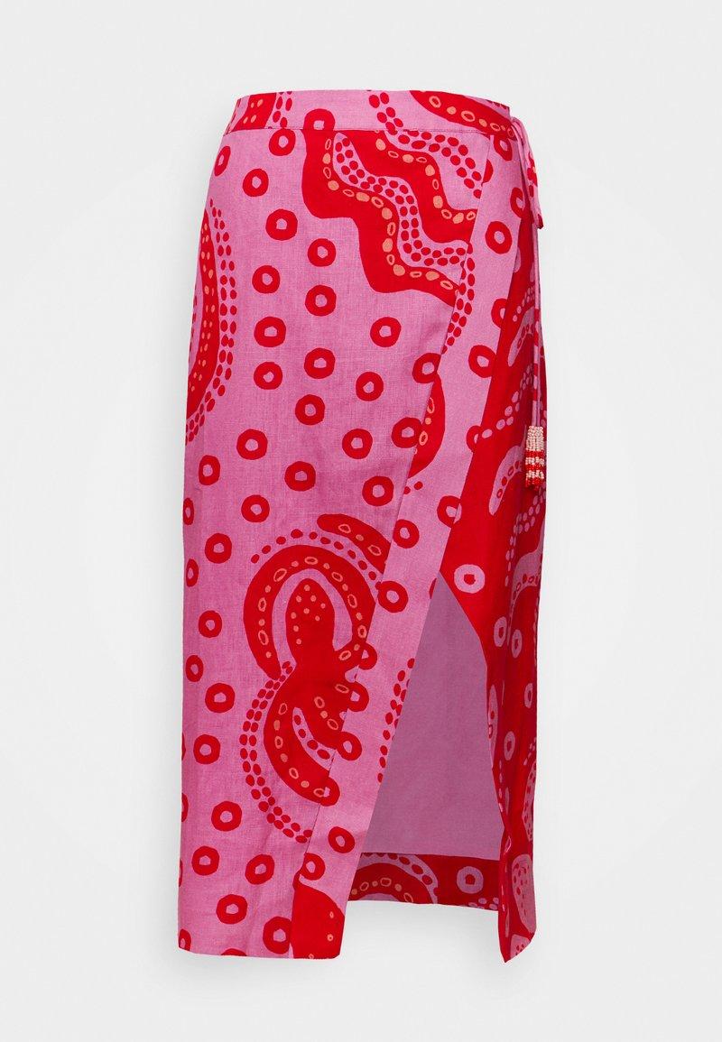 Farm Rio - OCTOCOOL WRAP SKIRT - A-line skirt - red