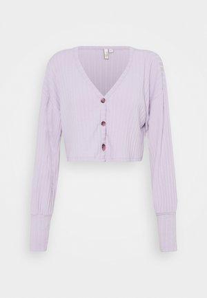 BOXY BUTTON - Cardigan - light purple