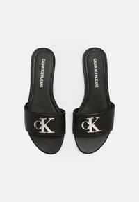 Calvin Klein Jeans - FLAT SLIDE  - Sandalias planas - black - 5