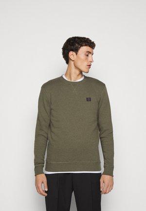 PIECE - Sweatshirt - dark green melange/dark navy