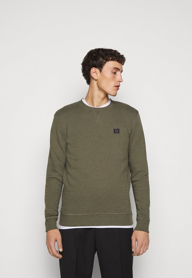 PIECE - Sweatshirt - dark green melange/dark navy