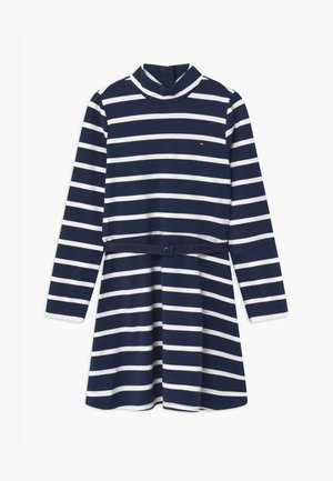 STRIPE SKATER - Jersey dress - blue