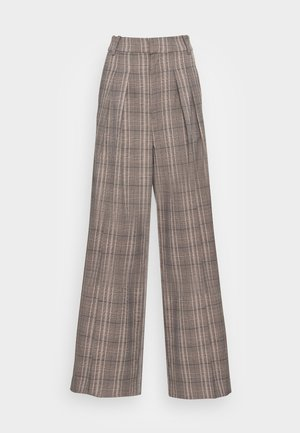 CALLINA WIDE PANT - Bukse - brown check
