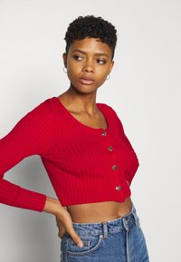 Monki - ALIANA CARDIGAN - Kardigan - red - 3
