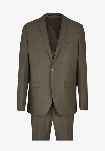 DREITEILIGER ANZUG MIT WESTE - Suit - taupe