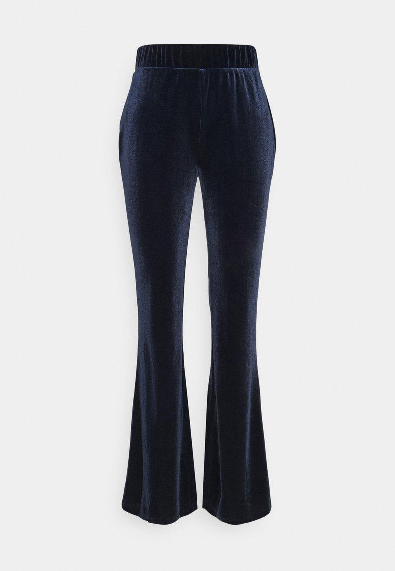 Vila - VIVELVETTA FLARED PANT - Tracksuit bottoms - navy blazer