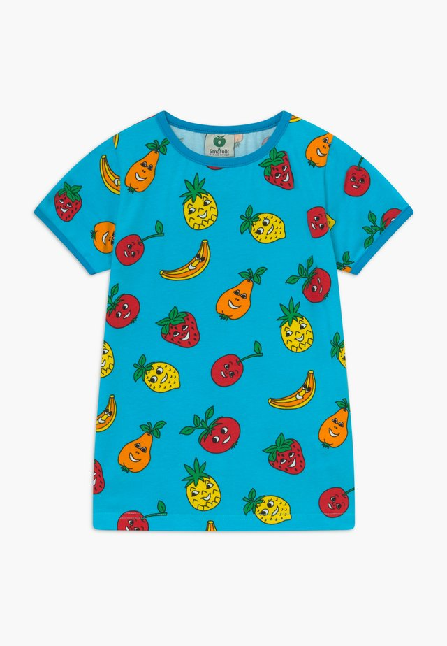 FRUITS - T-shirt con stampa - blue atoll