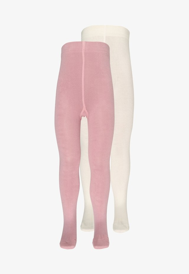 SOFT 2 PACK - Tights - offwhite/silver rose