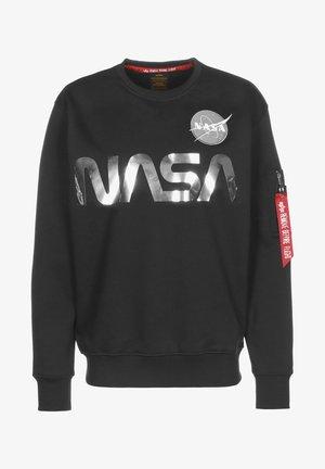 NASA REFLECTIVE - Sweatshirt - black/chrome