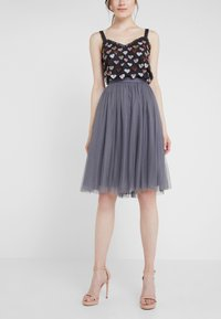 Needle & Thread - MIDI SKIRT - A-line skirt - vintage navy - 0