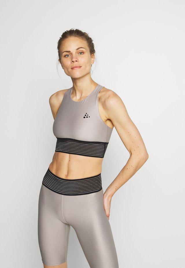 UNTMD CROPPED X SINGLET - Sports bra - ash