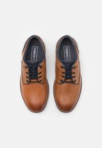 Friboo - LEATHER - Volnočasové šněrovací boty - cognac - 3