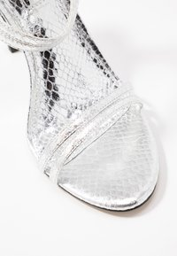 Office Wide Fit - HOTCAKE WIDE FIT - High heeled sandals - silver
