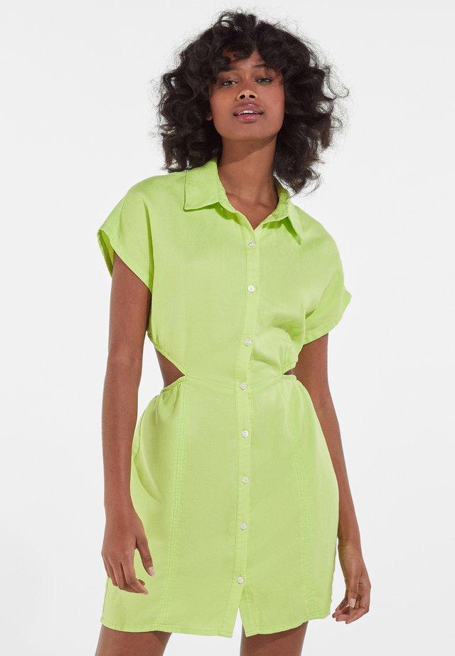 Košilové šaty - green