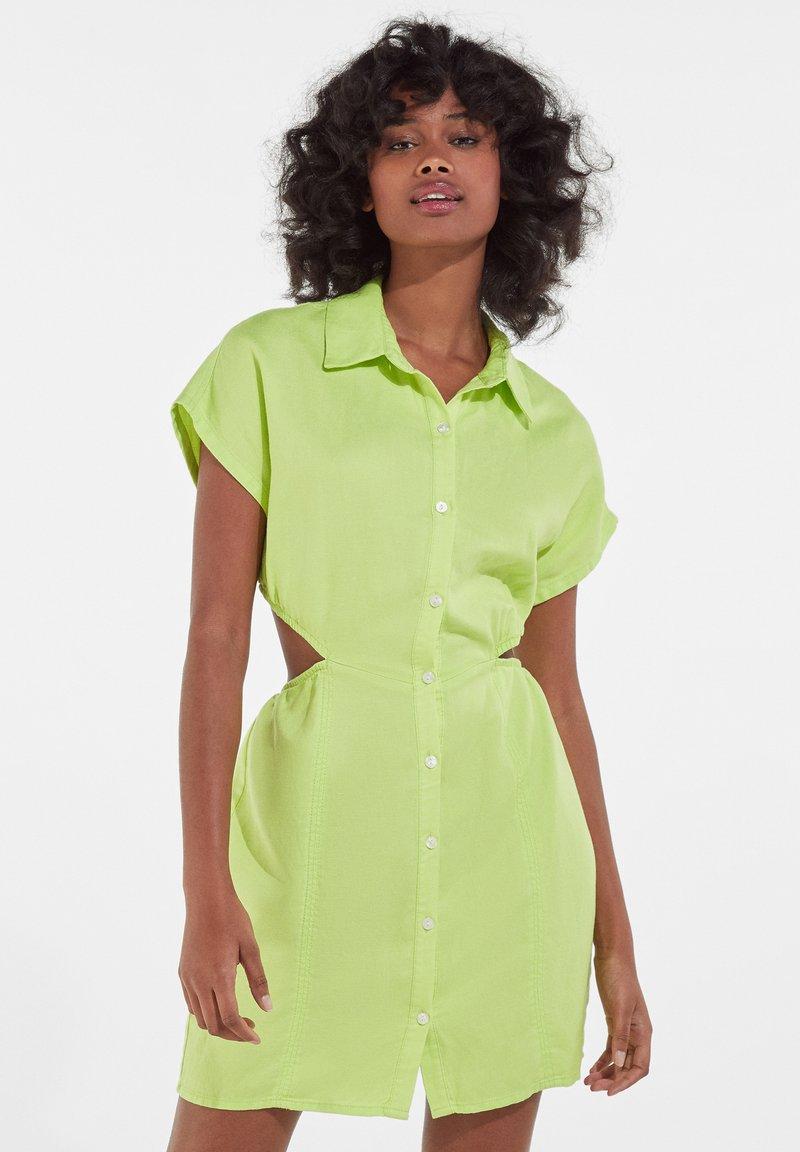 Bershka - Shirt dress - green