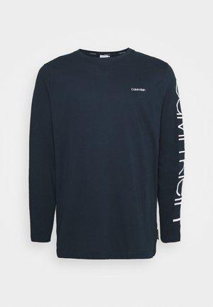LOGO LONG SLEEVE - Långärmad tröja - navy