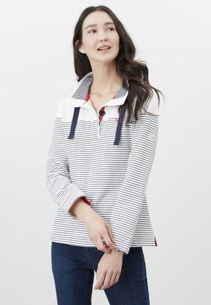 Sweatshirt - cremefarben marineblau streifen