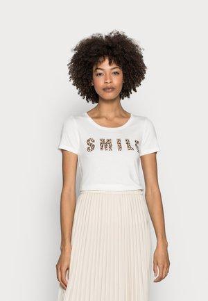 EMMERY - T-shirt print - chalk