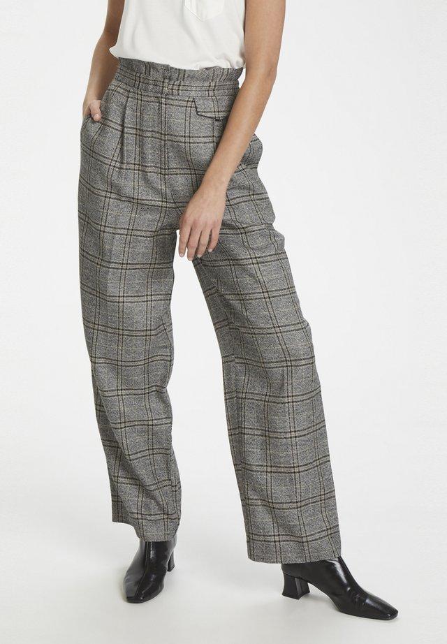 Pantalones - black check