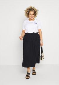 ONLY Carmakoma - CARTRIB LIFE LONG SKIRT SOLID - A-line skirt - black - 1